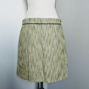 Banana Republic yellow tweed skirt with lining